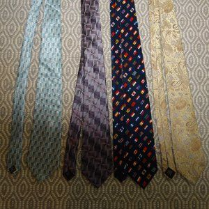 Other - Men's Ties - Blue, Purple, Gold, World Flags